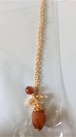 Gold tone brown bead necklace (Code 3399)